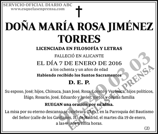 María Rosa Jiménez Torres
